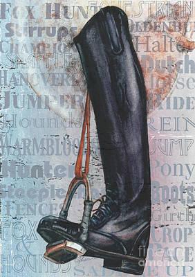 Riding Boot  Art Print