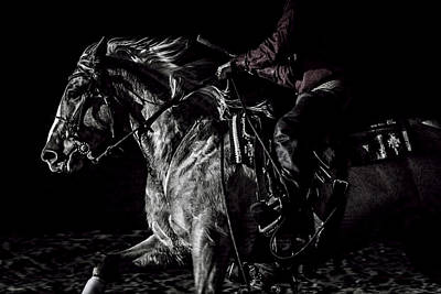 Forelock Photograph - Riding Hard by Wes and Dotty Weber