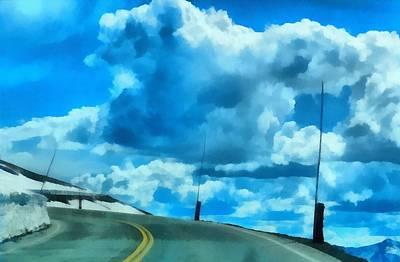 Riding High On Trail Ridge Road Art Print by Dan Sproul