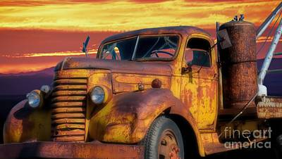 Photograph - Riding Into The Arizona Sunset by Henry Kowalski