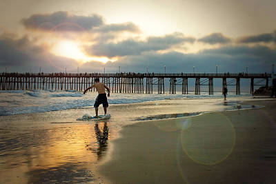 Pier Photograph - Riding Off Into The Sunset by Ann Patterson