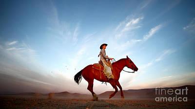 Alvord Desert Wall Art - Photograph - Riding On The Alvord Desert by Michele AnneLouise Cohen