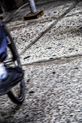 Photograph - Riding On The Sidewalk by Karol Livote