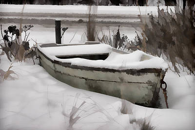 Row Boat Digital Art - Riding Out The Storm by Jeff Folger