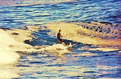 John Malone Art Work Digital Art - Riding Out The Wave by John Malone