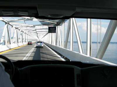 Photograph - Riding Over Chesapeake Bay Bridge by Pamela Hyde Wilson