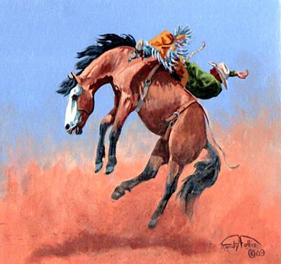 San Juan Painting - Riding Rocket by Randy Follis