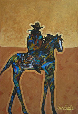Carefree Arizona Painting - Riding Solo by Lance Headlee