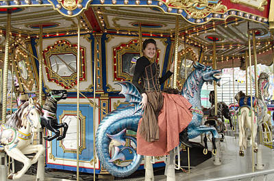 Calley Photograph - Riding The Carousel  by Teri Schuster