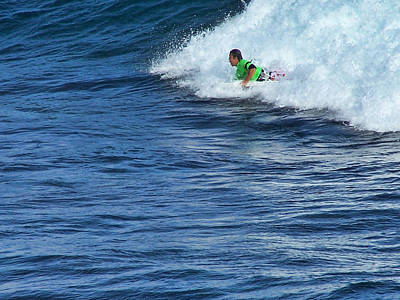 Photograph - Riding The Surf by Ron Roberts