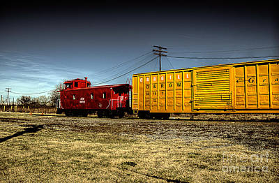 Caboose Photograph - Riding The Train by Hilton Barlow