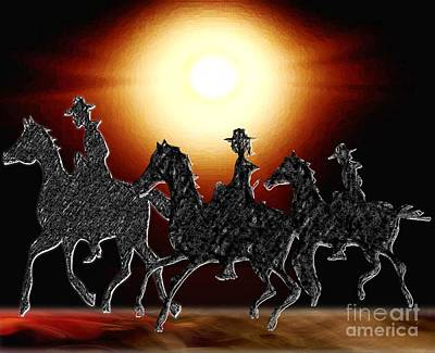 Digital Art - Riding Til Dawn by Belinda Threeths