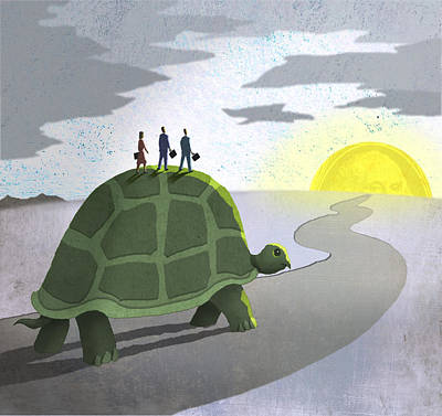 Earnings Digital Art - Riding Turtle by Steve Dininno