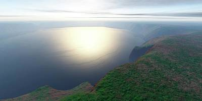 Crater Lake View Photograph - Ries Crater by Detlev Van Ravenswaay