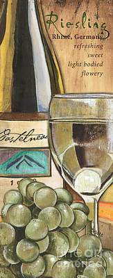 White Grape Painting - Riesling by Debbie DeWitt