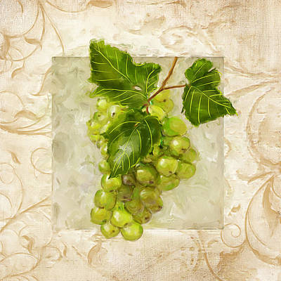 Cabernet Wine Painting - Riesling II by Lourry Legarde