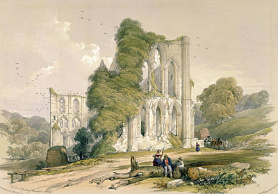 Rievaulx Abbey, From The East Front Art Print by William Richardson