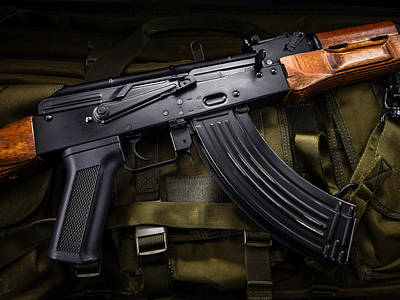 Soviet Photograph - Rifle Ak 74 by Raphael Campelo