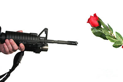 Photograph - Rifle And A Rose by Susan Stevenson