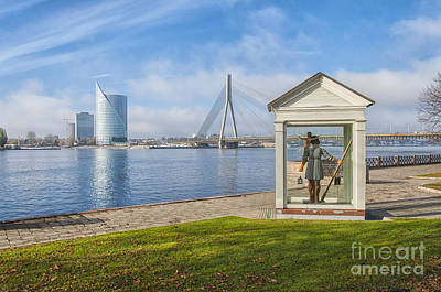 Saint Christopher Photograph - Riga Big Christopher by Antony McAulay