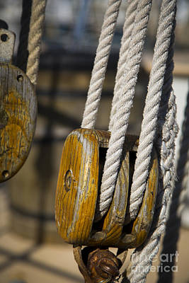 Photograph - Rigging Block by Brian Jannsen