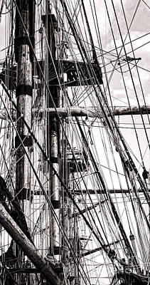 Tall Ship Photograph - Rigging by Olivier Le Queinec