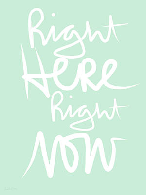 Mixed Media Rights Managed Images - Right Here Right Now Royalty-Free Image by Linda Woods