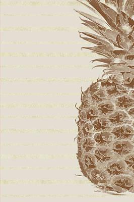 Right Side Pineapple Art Print by Ramona Murdock