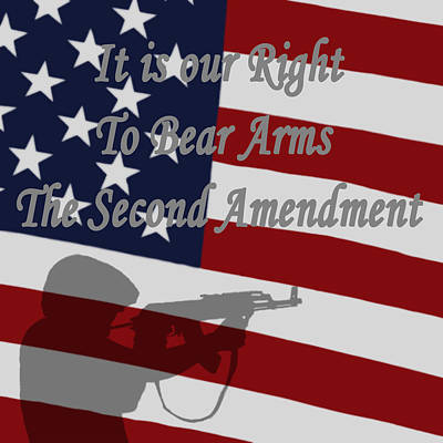 Digital Art - Right To Bear Arms by Ernie Echols