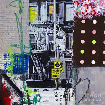 Avant-garde Mixed Media - Right Turn Only by Elena Nosyreva