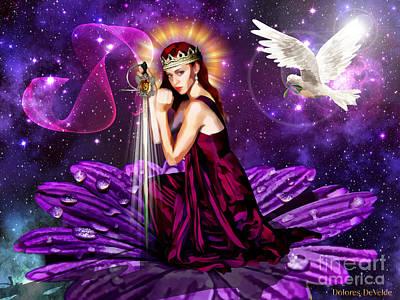 Bride Mixed Media - Righteous Warrior Bride by Dolores Develde
