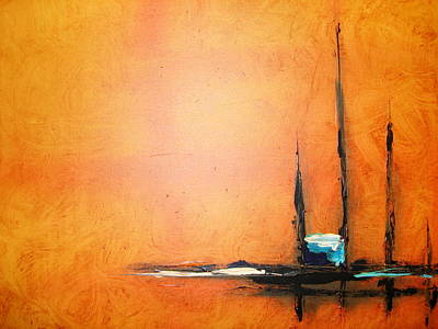 Abstrac Painting - Righteousness And Justice As Plumb And Level by Lalo Gutierrez