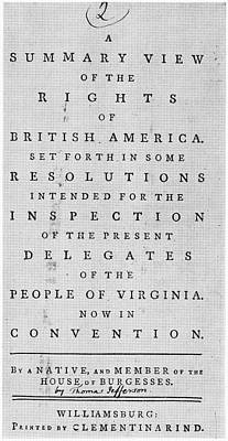 Politics Painting - Rights Of British America by Granger