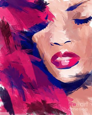 Rihanna Digital Art - Rihanna by Ahmad Alyaseer