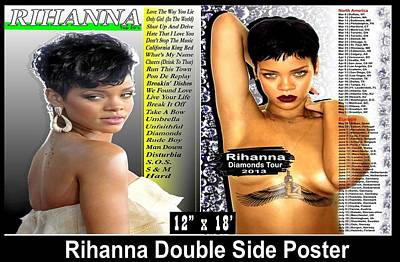 Rihanna Double Sided Posters Original by Donovan Wilson