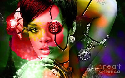 Rihanna Mixed Media - Rihanna by Marvin Blaine