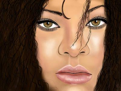 Rihanna Art Print by Mathieu Lalonde