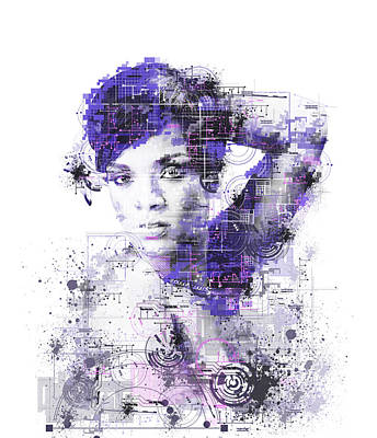 Abstract Digital Painting - Rihanna by Bekim Art