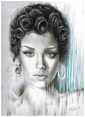 Rihanna Drawing - Rihanna by Montana Adams