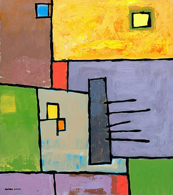 Grid Painting - Rijsttafel by Douglas Simonson