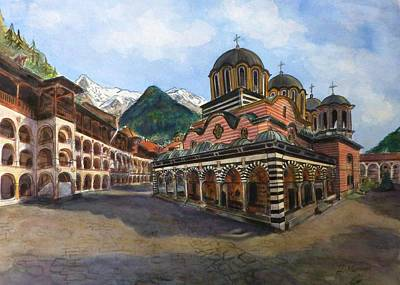 Orthodox Painting - Rila Monastery  Bulgaria by Henrieta Maneva