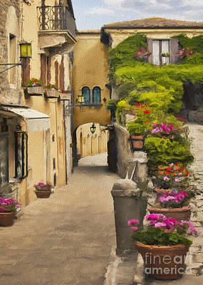 Photograph - Rimmini Courtyard Impasto by Sharon Foster