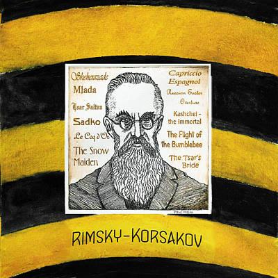 Bumblebee Drawing - Rimsky-korsakov by Paul Helm