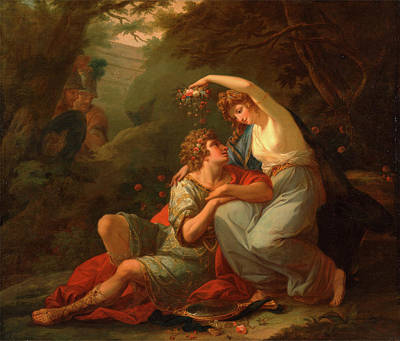 Angelica Painting - Rinaldo And Armida Signed And Dated Lower Right Angelica by Litz Collection