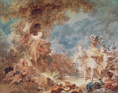 Rinaldo In The Gardens Of Armida Oil On Canvas See Also 250309 Art Print by Jean-Honore Fragonard