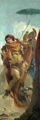 Giovanni Battista Tiepolo Painting - Rinaldo Turning In Shame From The Magic Shield by Giovanni Battista Tiepolo