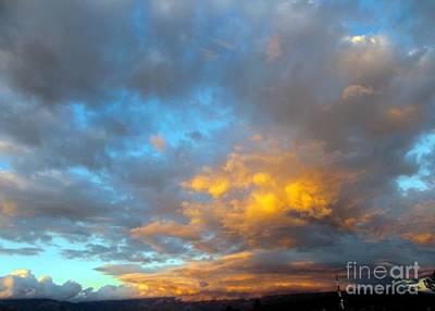 Rincon Mountains Wall Art - Photograph - Rincon Mt. Sunset by Jerry Bokowski