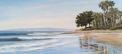 Beach Landscape Drawing - Rincon by Tina Obrien