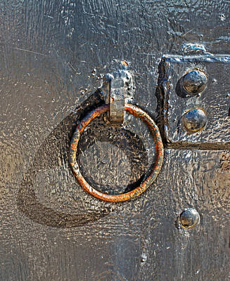 Photograph - Ring And Rivets On Battery Gunnison by Gary Slawsky