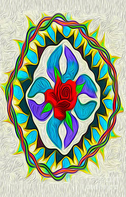 Digital Art - Ring Around The Rose by Gregory Dyer